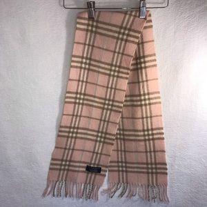 Burberry pink nova check lambswool scarf EUC